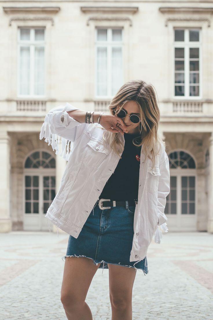 Fringes jacket Zara Top Comme des garçons More and links : theoverview.fr