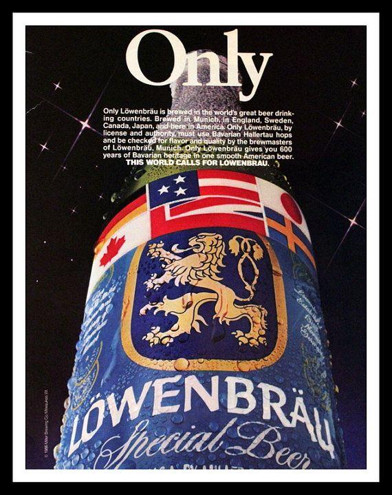 1987 Lowenbrau Beer Ad  Wall Art  Home Decor  by 3rdStVintagePaper