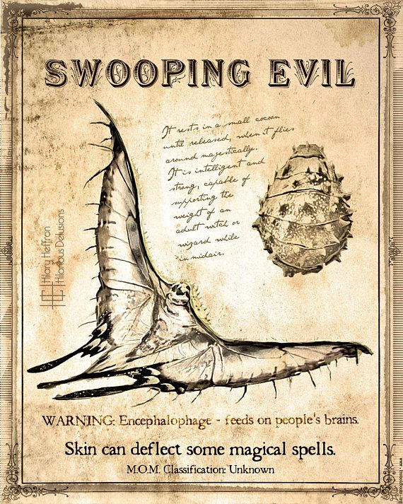 Swooping Evil Fantastic Beasts Book Page Digital Painting Print Fantastic Beasts Book Fantastic Beasts Fantastic Beasts Creatures