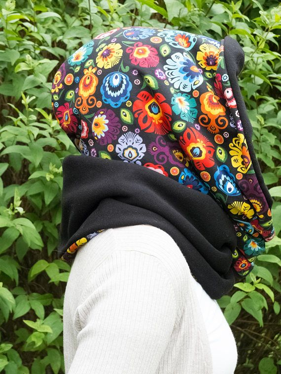 Large scarf with hood scarf hoodie cotton cowl scarf