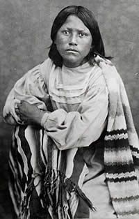 Topin Tone-oneo, daughter of Kicking Bird. The only one of the great Kiowa chief's children to survive him, she was with the first group of students sent to Carlisle Indian School in 1879.