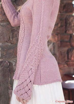Очень понравился пуловер, делюсь с вами Нашла схемы к этому пуловеру