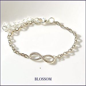 Bracciale infinito argentato, infinity bracelet silver plated