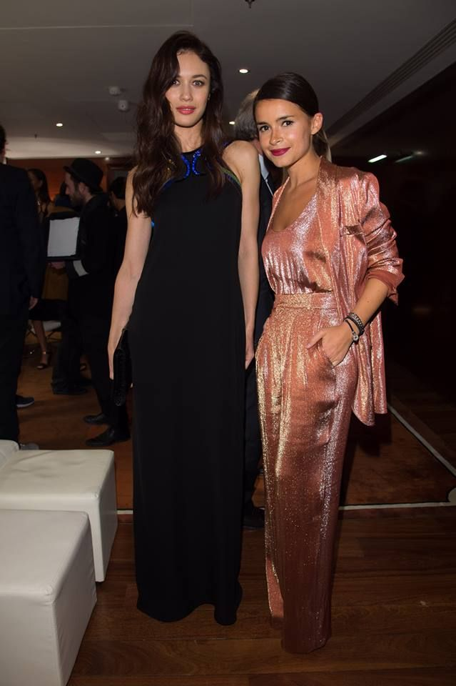 Mira with Olga Kirilenko at private event organised by GUCCI