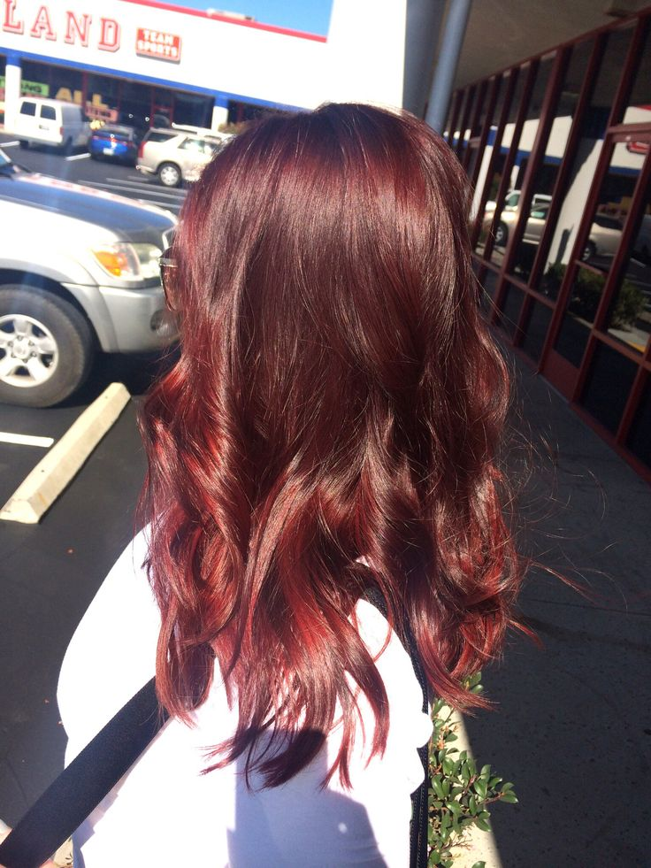 Red Hair Deep Red Hair Burgundy Hair Medium Length Hair