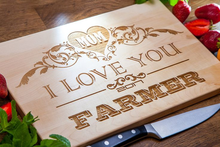 Personalized Cutting Board - Personalized Gift for Mom, Mother birthday gift,  Mother's Day gift, Gift from daughter, Anniversary gift by IntraSStudio on Etsy