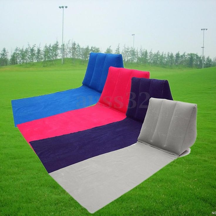 Inflatable Beach Festival Camping Lounger Back Pillow Cushion Chair New #UnbrandedGeneric