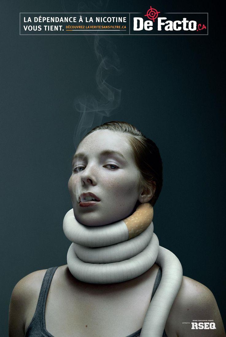 De Facto: Nicotine addiction - woman | Ads of the World™