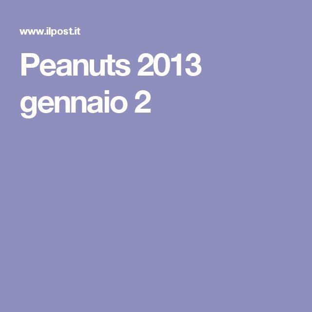 Peanuts 2013 gennaio 2