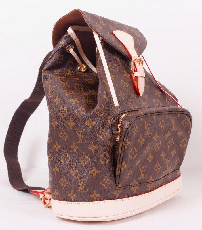 Рюкзак Louis Vuitton (Луи Виттон) коричневый в монограмму