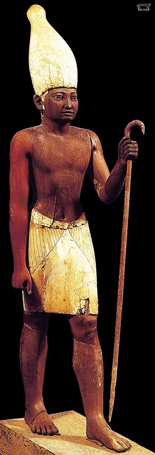 Wooden statue of Senwosret I (Kheper-Ka-Ra) - second king of the 12th Dynas