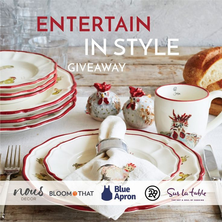 Win everything you need to throw a stylish dinner party this fall!  Enter the…