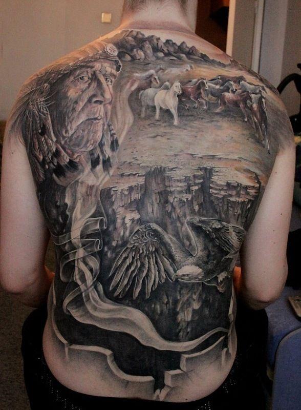 Татуировка горы, значение тату глаз гора