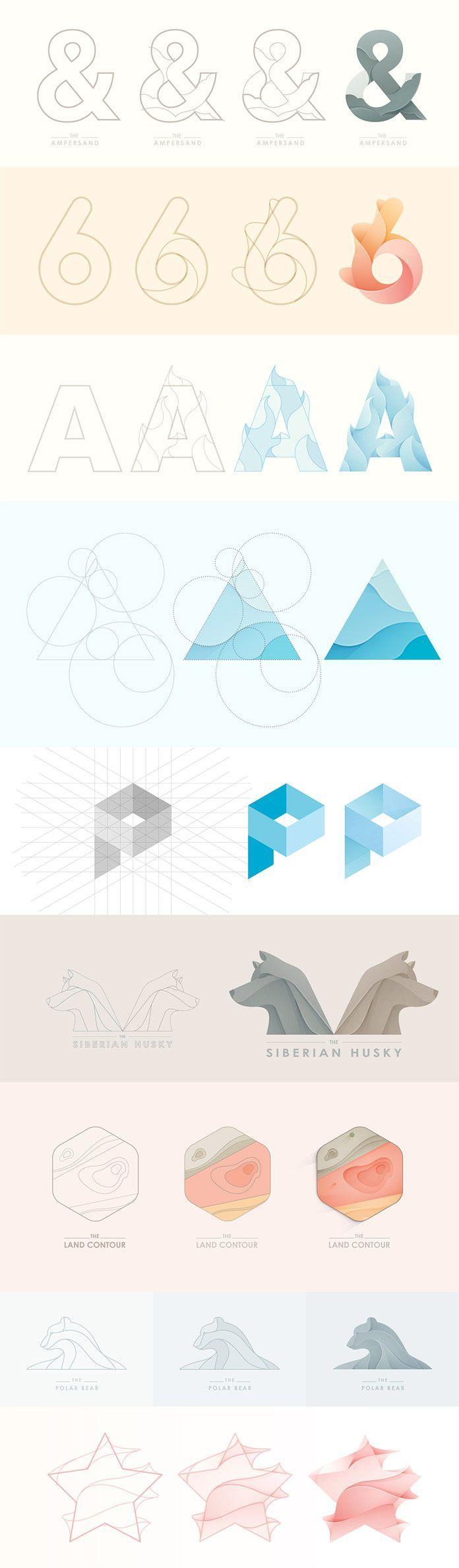 Logo Designs – Prozess-Fallstudien von Yoga Perdan…