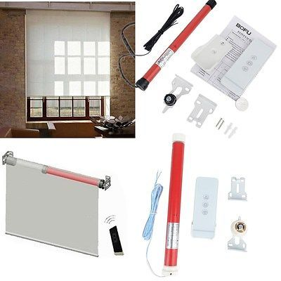 2 Size 12V DIY Electric Roller Blind/Shade Tubular Motor Kit & Remote Controller