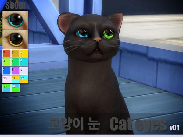 Soobi S Cat Eyes V01 Sims 4 Pets Sims Pets Cat Accessories