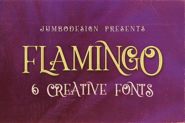 Font Flamingo Vintage Style Font Free Download Typeface Vintage Fonts Creative Fonts Retro Font