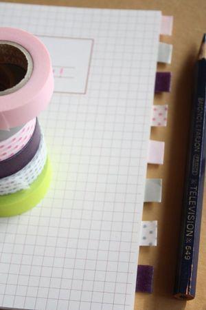 Un cahier + du masking tape