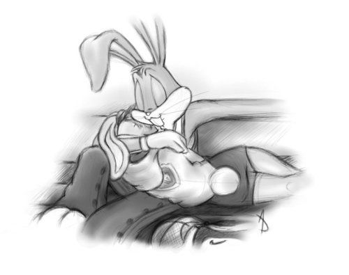 Imagen de bugs bunny, drawing, and together