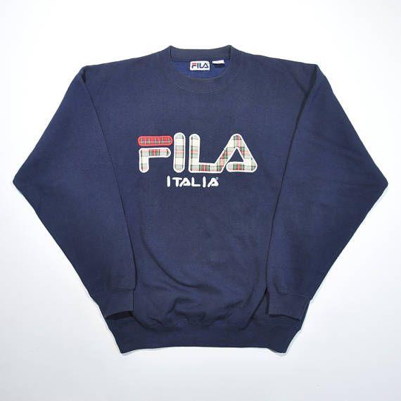 Rare Vintage 90s FILA ITALIA Sweatshirt / FILA Pullover ...