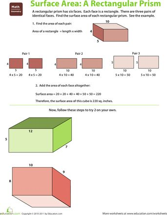 how to get best surface area of a rectangular prism