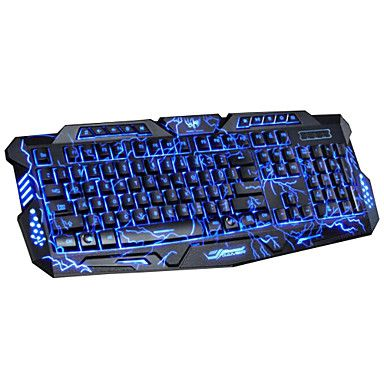 DuShiFangYuan+USB+Wired+114-Key+LED+Backlit+Burst+Crack+Style+Gaming+Keyboard+Luminous+Programmable+–+USD+$+48.99