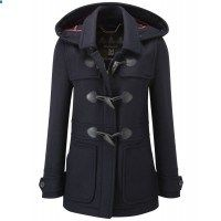 Barbour Ladies Wool Buttermere Duffle Coat - Navy LWO0115NY71 - Ladies Jackets and Coats - WOMEN | Country Attire