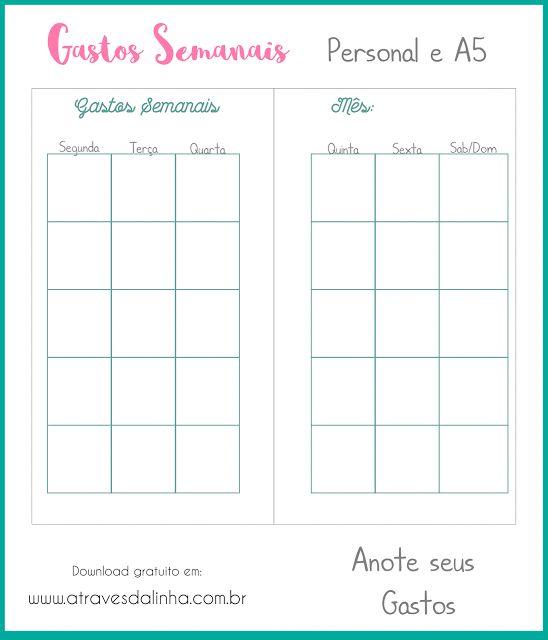 Planner financeiro em português completo, colorido. Inserts para planner. Personal e A5