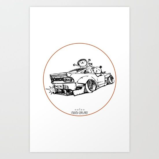 Crazy Car Art 0007 - $20