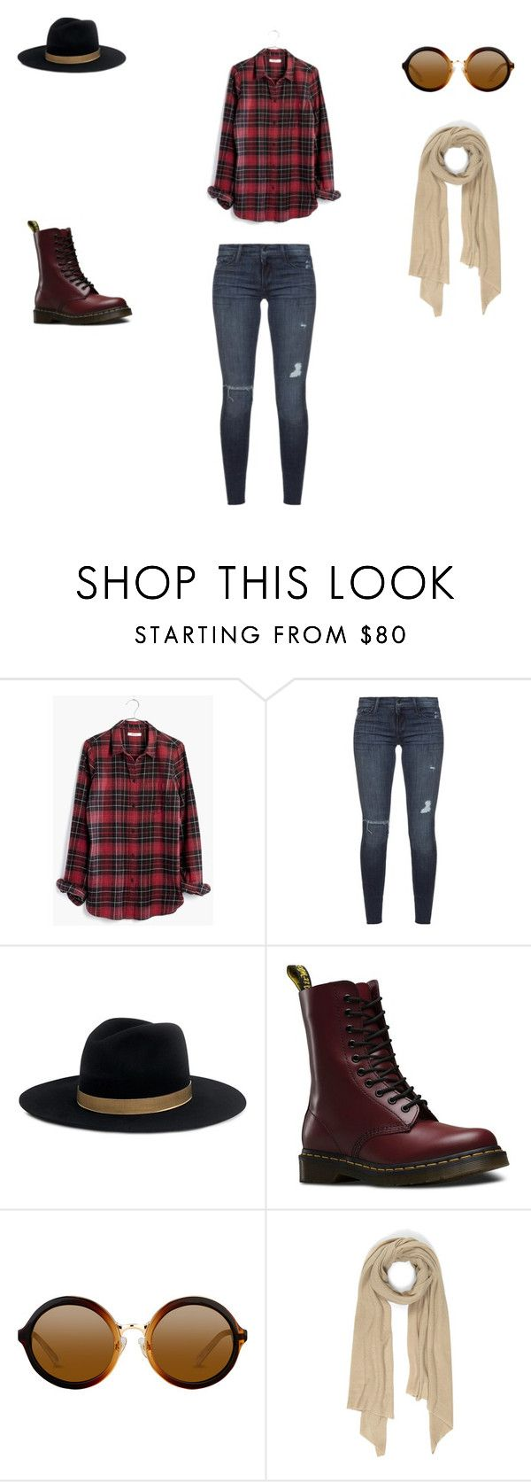 Untitled #4 by zuzia-apanasewicz on Polyvore featuring Madewell, Black Orchid, Dr. Martens, Cash Ca and Janessa Leone