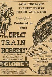 The Great Train Robbery (1903) 7/10  Good film with a good little story. However I couldn't help but laugh every time someone got shot and died, they were so overdramatic!  Enjoyed the final shootout but really didn't see the point in the man at the end facing and shooting the camera several times.
