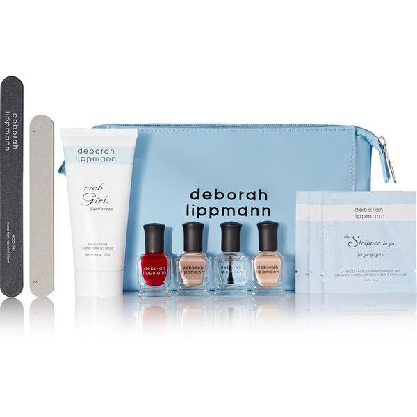 Deborah Lippmann Deborah Lippmann - Come Fly With Me Manicure Set -... ($56) ❤ liked on Polyvore featuring beauty products, nail care, manicure tools, manicure pedicure kit, make up purse, deborah lippmann, toiletry bag and wash bag