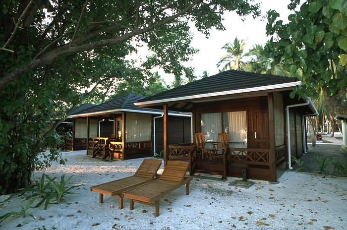 Beach villa exterior at Royal Island Resort Maldives,  for more details visit www.voyagewave.com