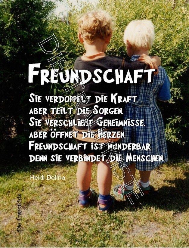 """Karte """"Freunde"""" T0078 – Liebe & Freundschaft – Grußkarten – Handgemacht mit Liebe …   – Sprüche über Liebe und Freundschaft"""