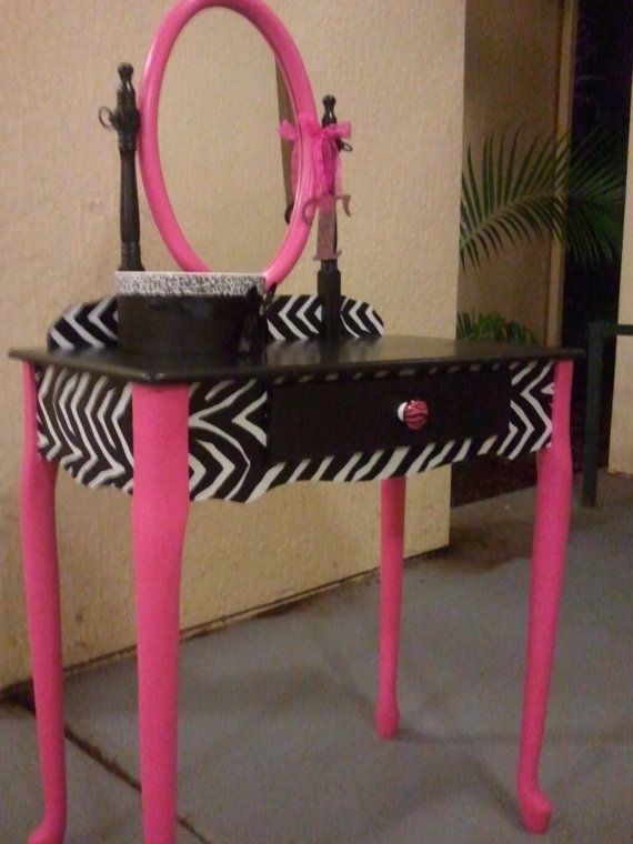 Painted Vanity Table Cute For Little Girls/teen Room Furniture