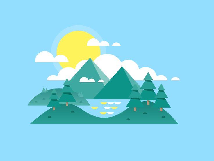 Landscape by Scott Tusk #Design Popular #Dribbble #shots