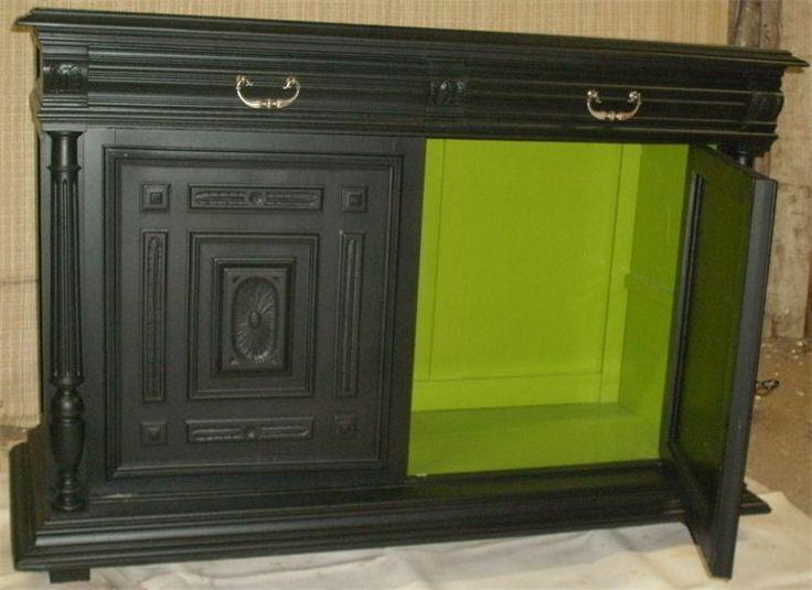 buffet henri ii noir meubles transform s cuisine salon. Black Bedroom Furniture Sets. Home Design Ideas