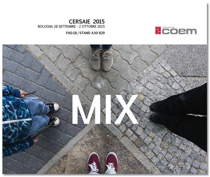 #CeramicheCoem #Cersaie2015 #Bologna #CeramicsOfItaly. #MIX: Mixing, combining and recomposing shapes and structures. Creating a pleasant, original mix that blends colours, sizes and decorations, defining creative settings in which material and texture shape the architectural living space.