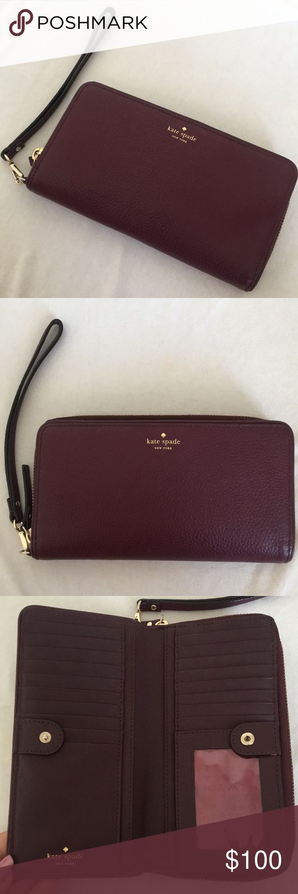 Like new Kate spade wallet ❤️ Beautiful and 100% authentic wallet. Was used for less then a week I love it so much but I have way to many wallets/purses. This wallet has so much space! Any questions just ask :) NO OFFERS IN COMMENT SECTION. REASONABLE offers always welcome ❤️❤️ kate spade Bags Wallets