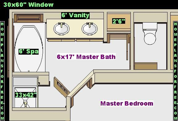 Master bath ideas home pinterest Master bedroom with master bath layout