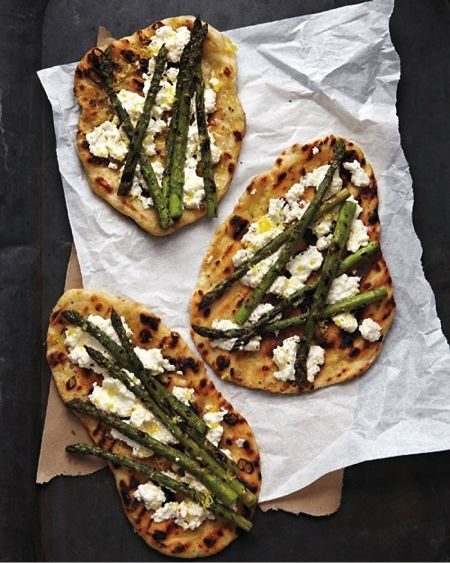 grilled asparagus and ricotta... I would change the asparagus for broccoli though