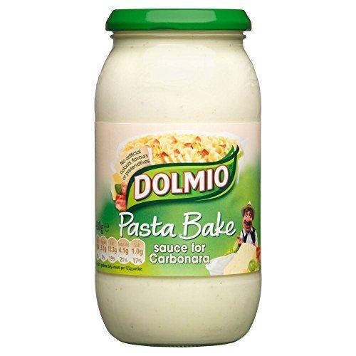 Dolmio Pasta Bake - Carbonara (480g) Dolmio Pasta Bake - Carbonara (480g) (Barcode EAN = 5054186219461). http://www.comparestoreprices.co.uk/january-2017-1/dolmio-pasta-bake--carbonara-480g-.asp