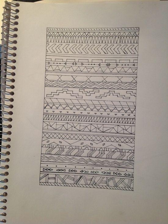 aztec pattern drawing   Art   Pinterest   Pattern drawing ...