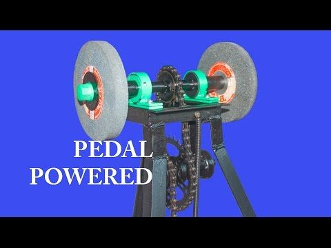 Single Pedal Powered Grinder (DIY) - YouTube