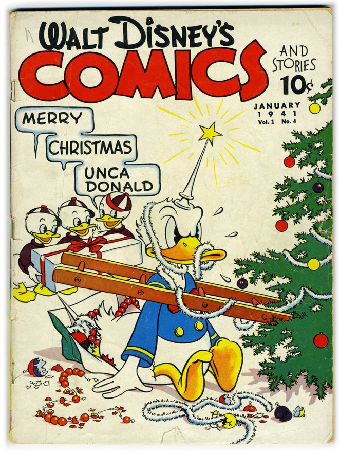 Donald Duck Comic Book.  Look at the price!   I used to love reading all sort of comic books.  This was 1941 (before my time, lol), but I think comics were the same price when I was a kid...