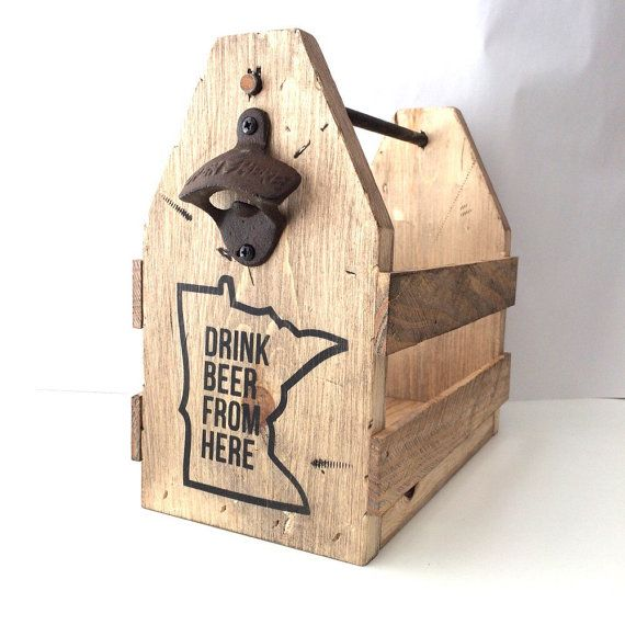 Beer holder, wood beer holder, bottle opener, six pack carrier, craft brew carrier