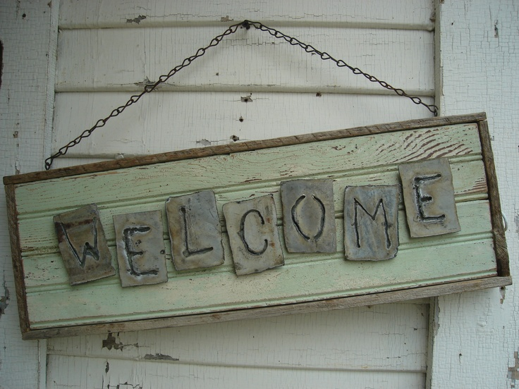 welcome signs diy - 736×552