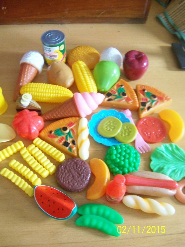 Huge lot fake food pretend play kitchen groceries prop for Fake kitchen set