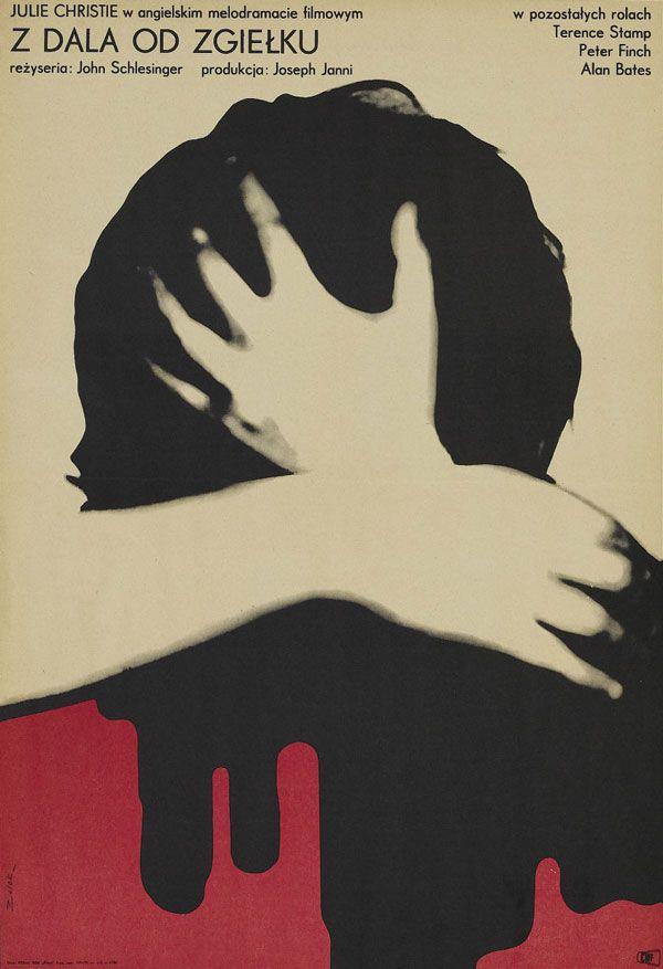 Polish poster for FAR FROM THE MADDING CROWD (John Schlesinger, UK, 1967)  Designer: Bronislaw Zelek (b. 1935)