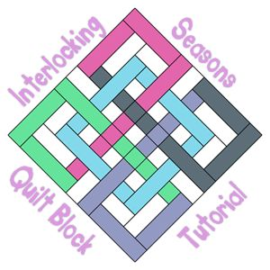 """Tutorial - Interlocking Seasons Quilt Block [gotta make one of these! the block measures - 12.5"""" block - pdf also available, but not necessary"""